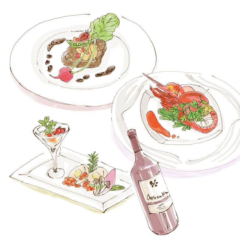 手描き風メニューイラスト制作いたします レストラン・カフェ・居酒屋などのメニューに!