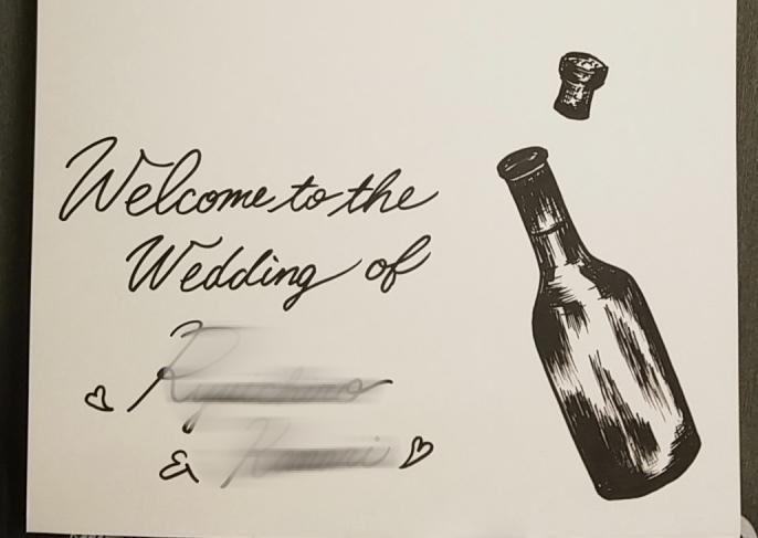結婚式等のウェルカムボード作成致します 一生の思い出になる様なボードを作成致します