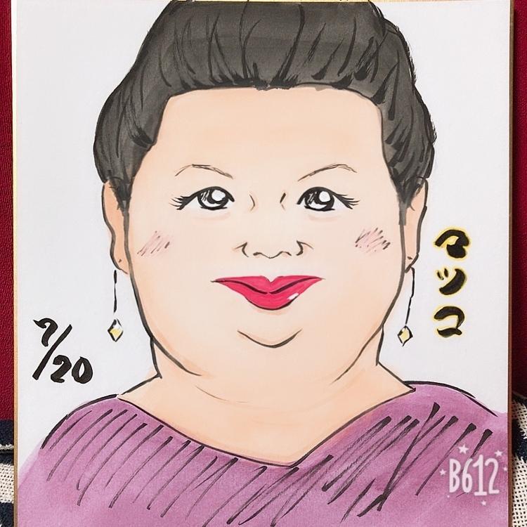 温かみのある手書き色紙似顔絵イラスト描きます お祝い事やプレゼント、自分を売りこみたい方へ