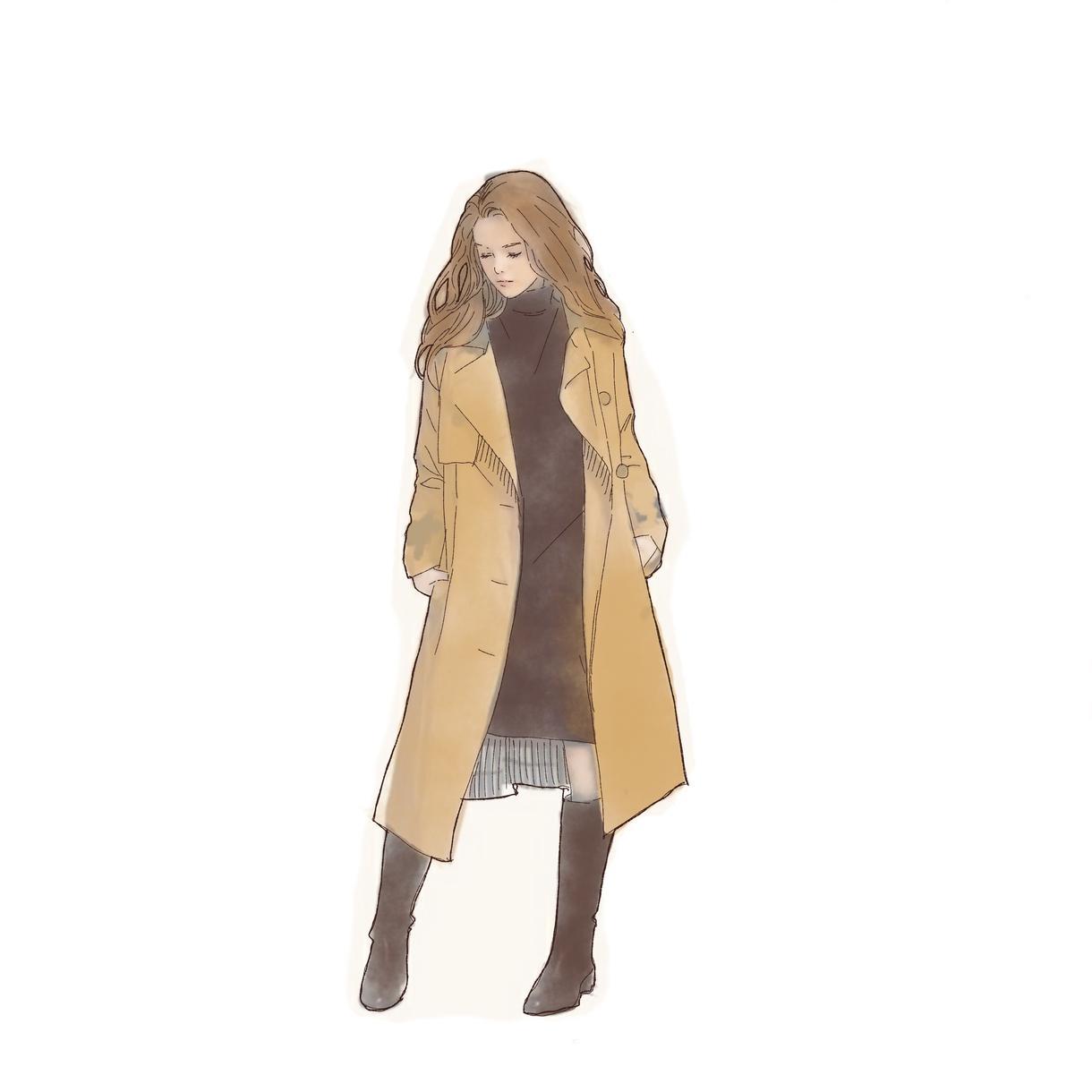 ファッション系女の子のイラストを描きます SNSのアイコンやアクセント素材として
