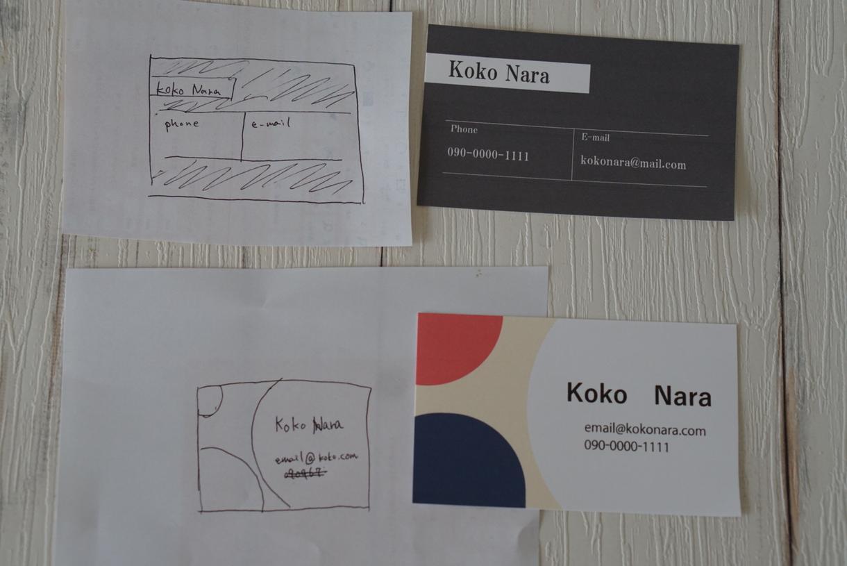 手書きの名刺、ショップカードからデザインします イメージをかたちにしたい!をお手伝いします!