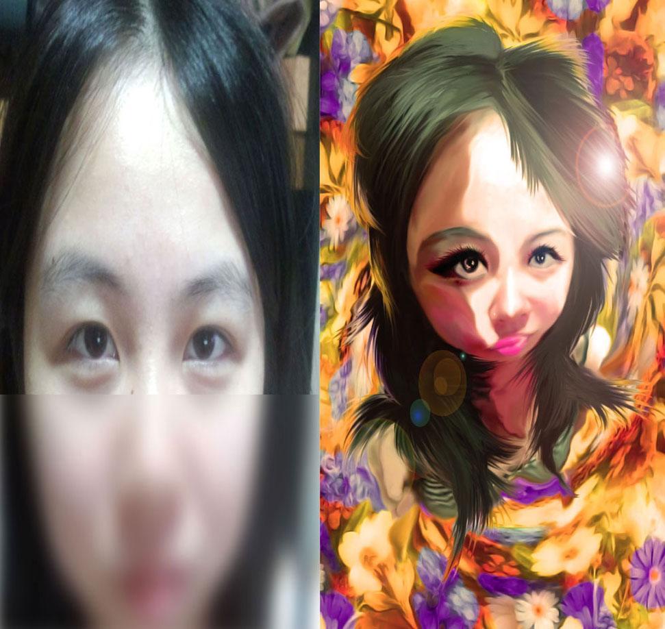 写真を元にリアルなデフォルメ似顔絵を制作します。 イメージ1