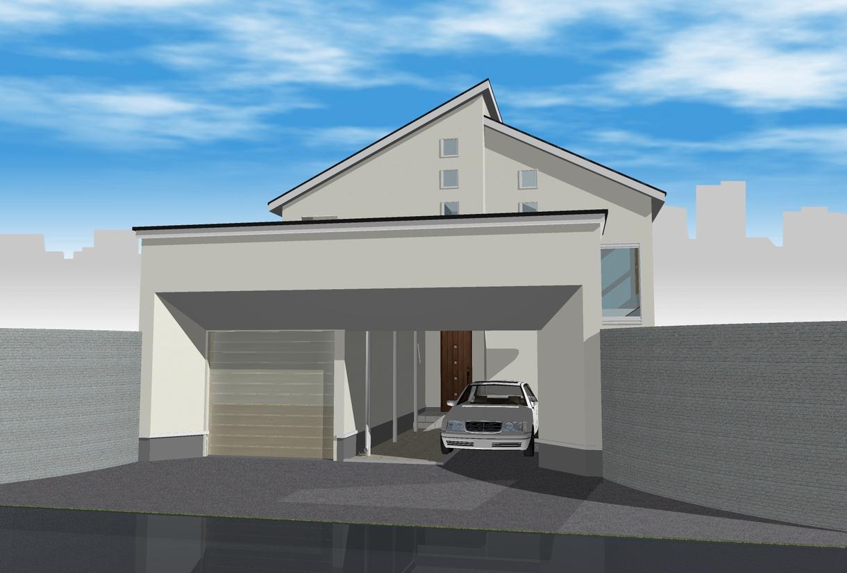 簡易住宅専用3DCGパース