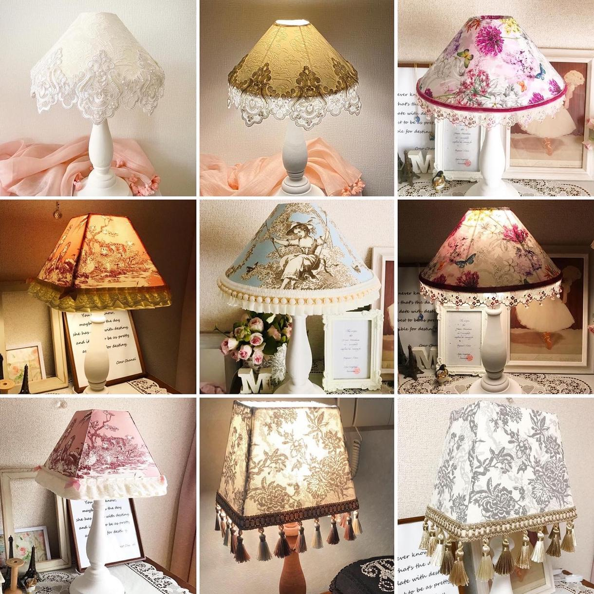 フランス輸入生地でテーブルランプを制作します 寝る前に安らぎのひとときを。優しい灯りランプシェード。 イメージ1