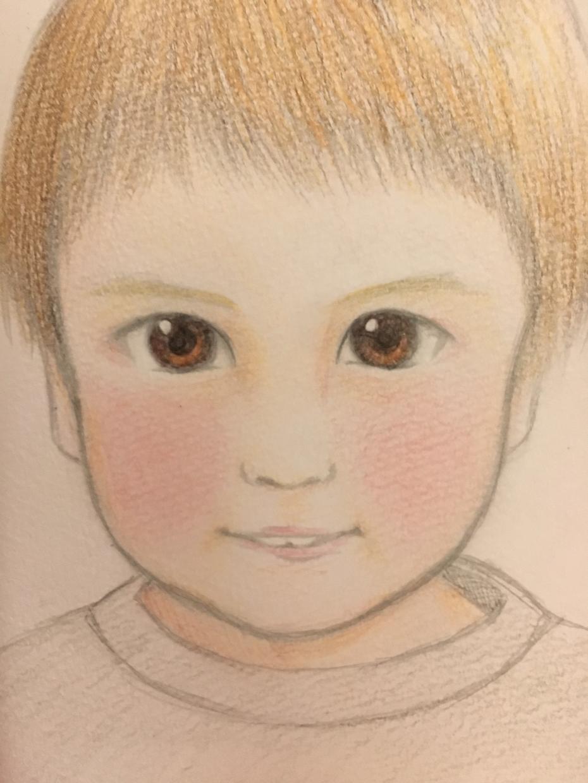 世界に一つだけのあたたかい似顔絵をお描きします 色鉛筆画の一点物!現物をお送りします☆結婚式・記念日等に♪