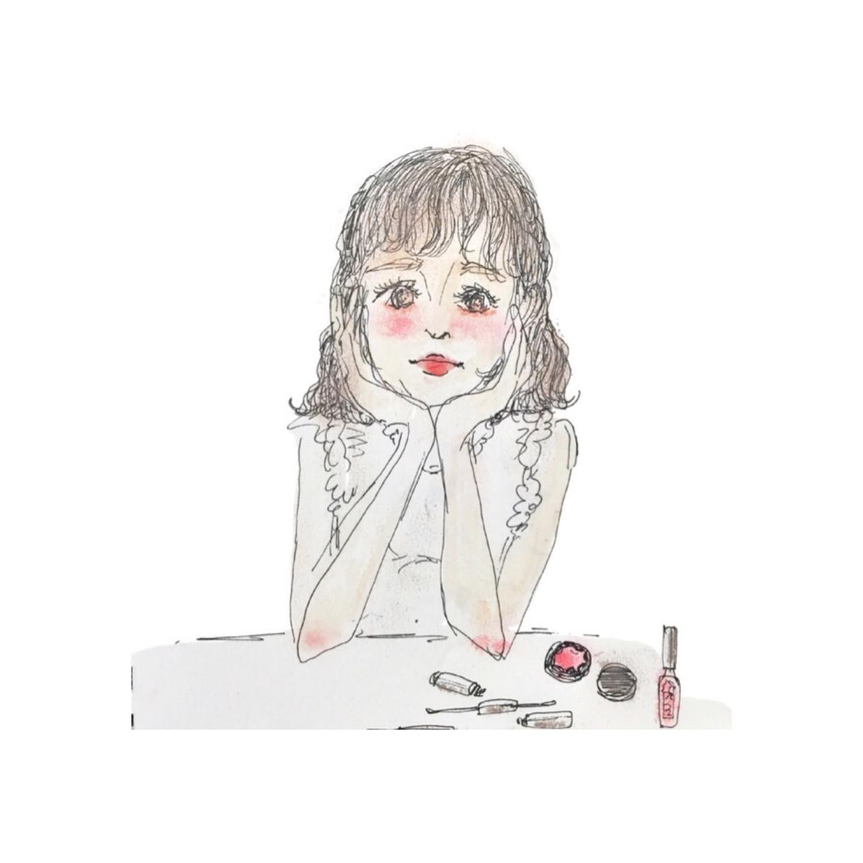 【似顔絵】お写真を元に実際のメイク道具を使用し、お洒落な似顔絵を描きます!