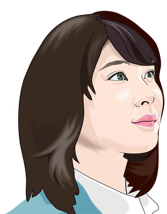 人物の似顔絵を制作。翌日のご提供もできます リアルで少しデフォルメの似顔絵です。