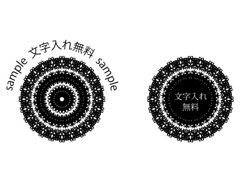 文字を使ってレース風の画像を作ります 【ロゴ】見えない秘密のあるレース【SNS】