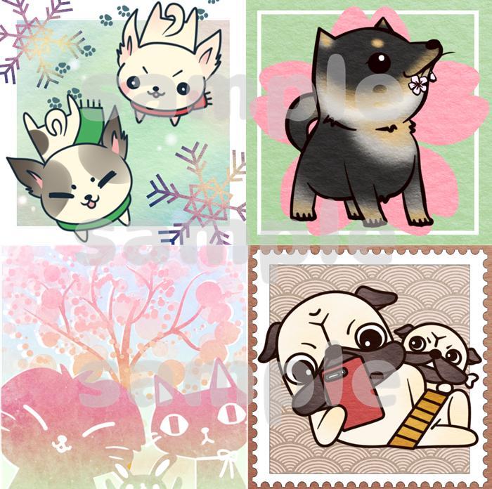 動物や人間キャラのデフォルメイラスト描きます SNSのアイコンなどを描かせてください!