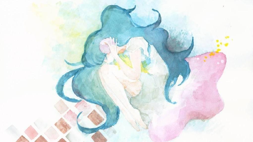 アイコン・名刺サイズのイラスト描きます かわいい&ほのぼのな水彩画です!