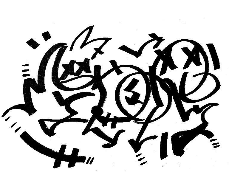 あなたの好きな綴りでグラフィティのタグを描きます ヘッダー、アイコン画像、チームロゴデザインが欲しい方 イメージ1
