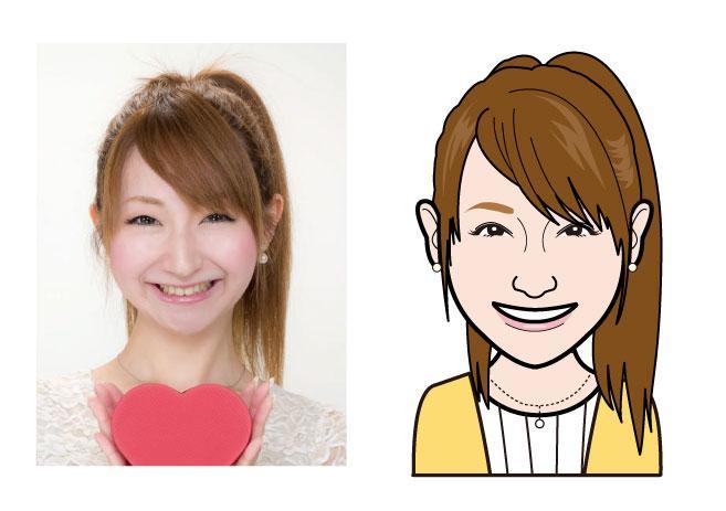 名刺チラシSNSに大活用写真から似顔絵を描きます HP・名刺に顔を載せたいけど写真はちょっと…という方へ!