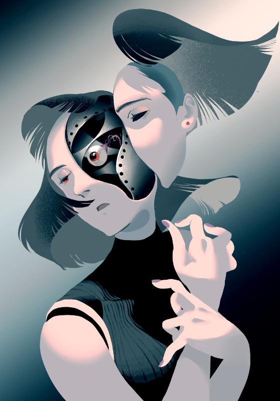 不思議な世界観のイラストお描きします 変わった世界観、印象的な絵が欲しい方へ。 イメージ1