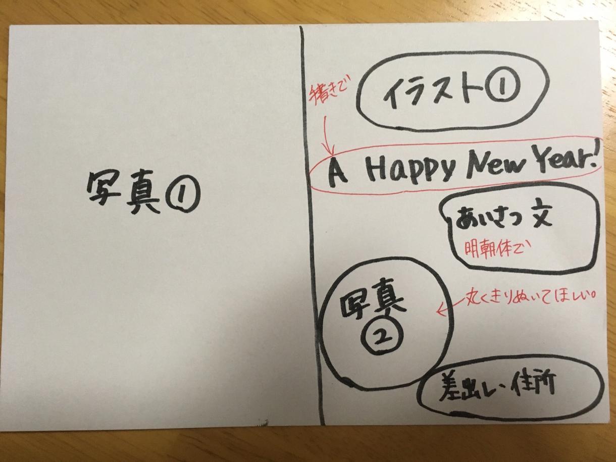 年賀状オリジナルデータ作成します オリジナルの年賀状で新年の挨拶を伝えたい方へ