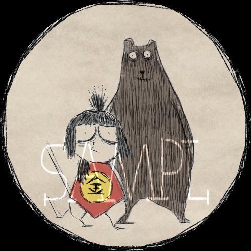 ティムバートン風イラスト描きます SNSのアイコンに、似顔絵、ペットもティムバートン風に!