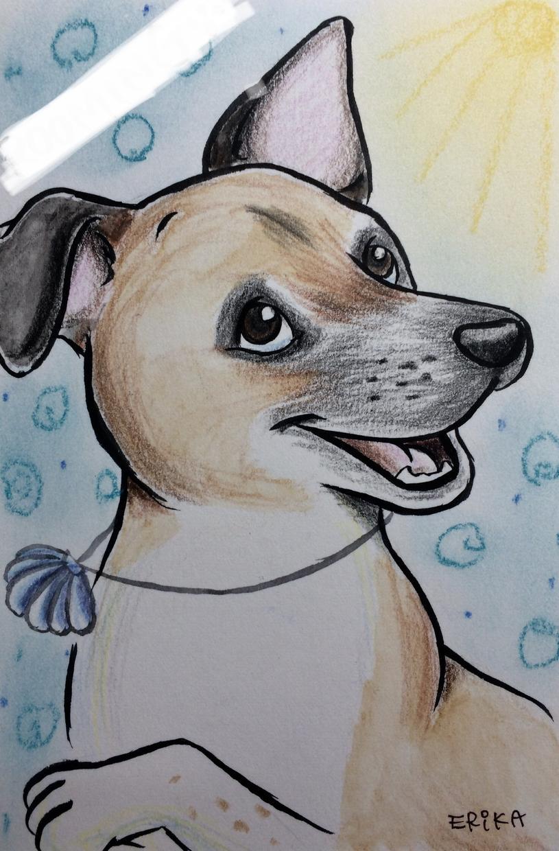 ペットちゃんの似顔絵描きます 模写ではなく表情を少し付けて可愛らしく仕上げます。 イメージ1