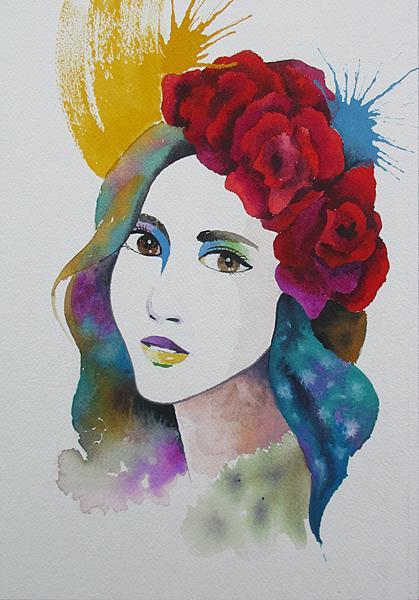 手描きによる似顔絵をオシャレに魅力的に描きます 手描きによるオリジナルアートを自分!プレゼント!お祝い!に イメージ1