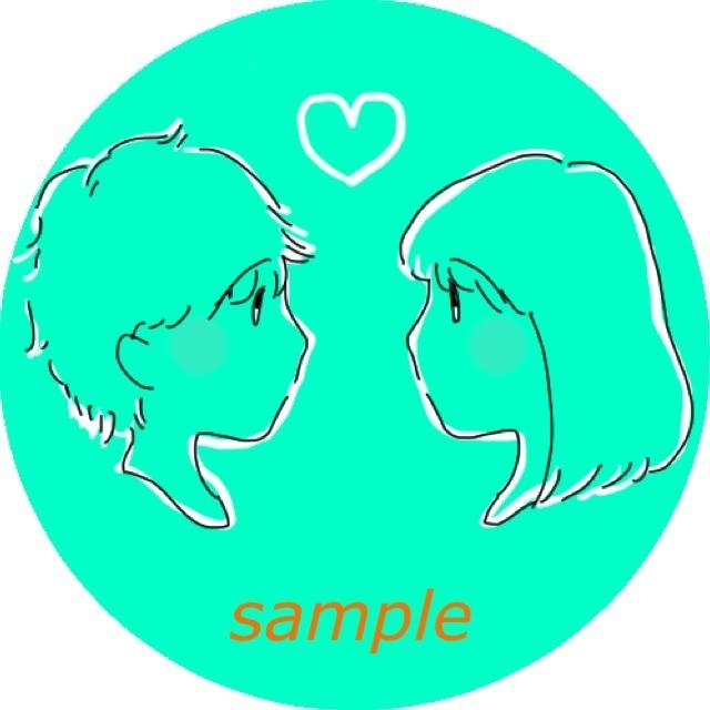横顔♡アイコン、似顔絵、イラスト描きます 恋人同士やお友達とおそろいにも♡
