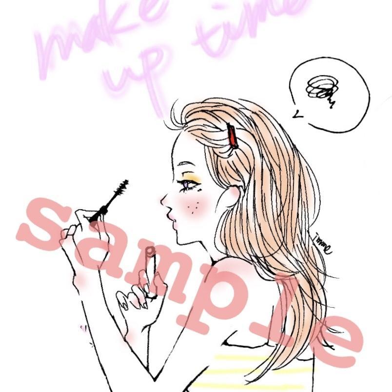 おしゃれなガーリーイラスト描きます SNS、インスタに♡他と差をつけたいアイコンいかがですか