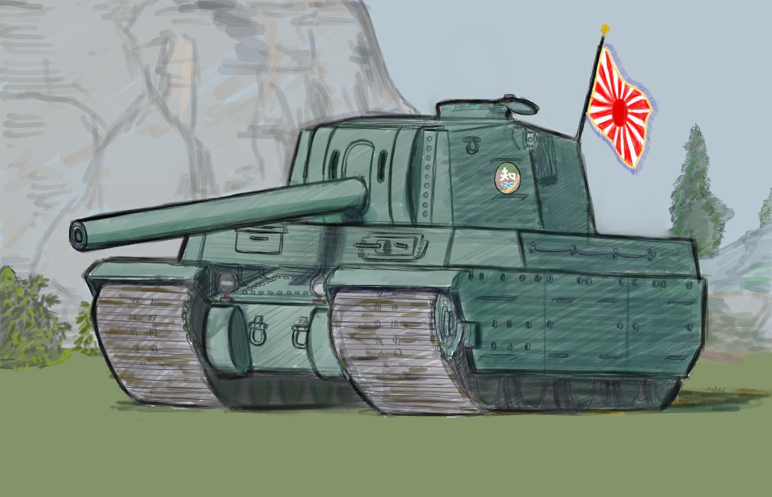 戦車のイラストお書きします ミリタリー系の趣味を持たれている方に~ イメージ1