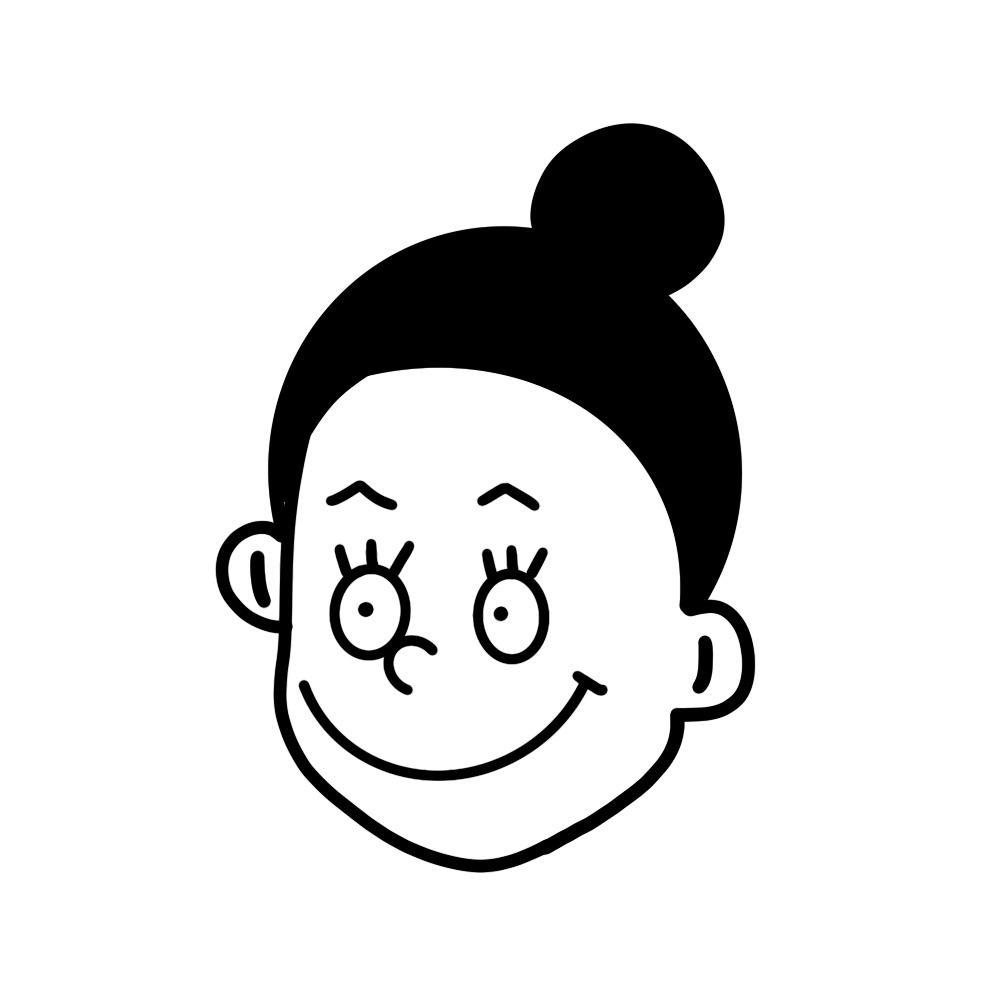 好感をもたれる☆似顔絵イラスト作成します ポップな似顔絵イラストを名刺やチラシに入れて好印象に