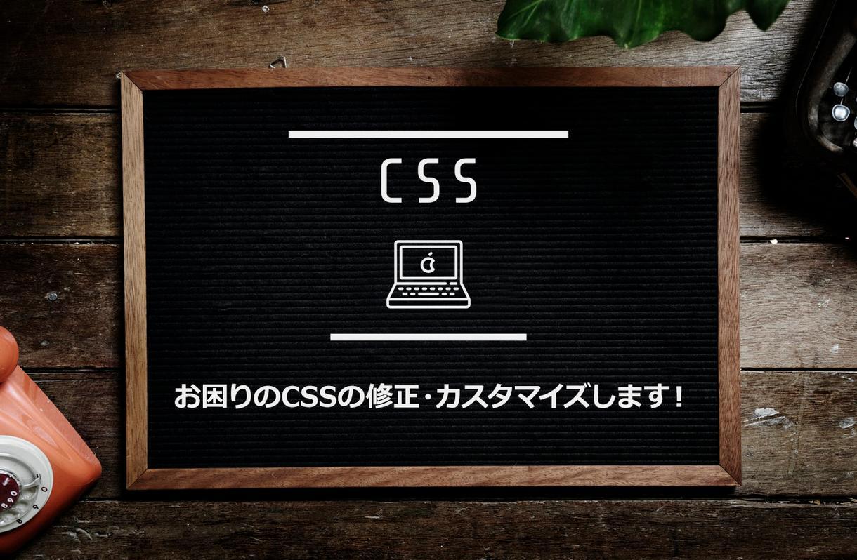 あなたのお困りのCSSの修正・カスタマイズします 某大手企業のサイト制作も手掛けた、webサイト制作者です!