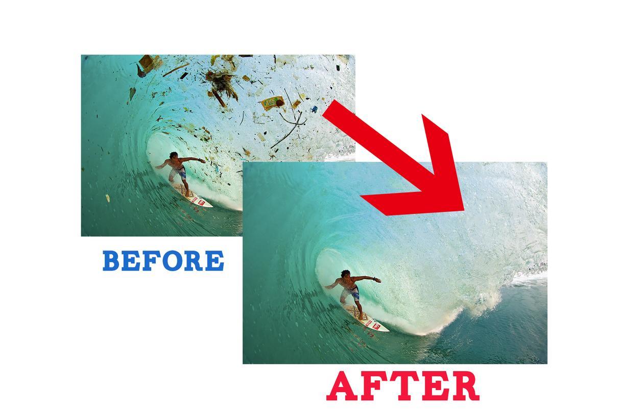 写真の中の消したいもの綺麗に削除します 思い出の一枚にゴミが写ってても大丈夫!綺麗に消してみせます!