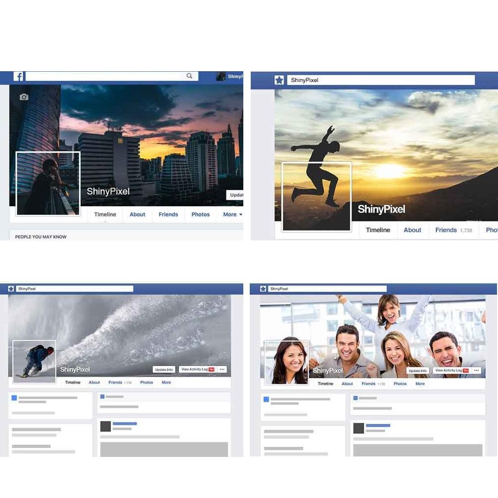 Facebookのヘッダー・プロフ画像を作ります カバーとプロフィール写真の一体化で個性的なデザインに!