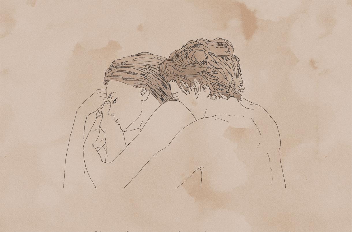 雰囲気のあるカップルイラスト描きます 映画のような繊細でお洒落な人物イラストをお求めの方へ