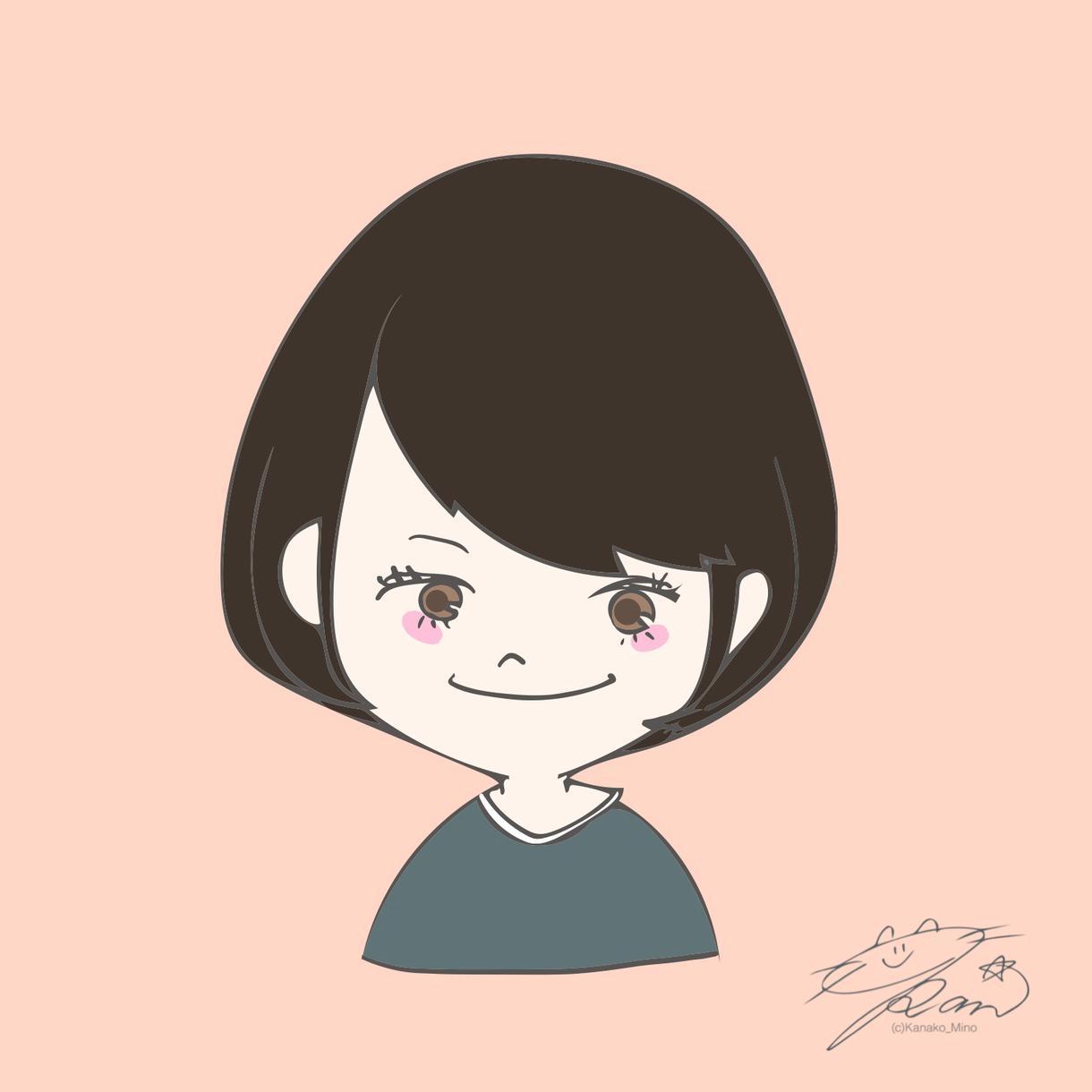 おひとり様500円!似顔絵イラスト描きます SNSのアイコンやプレゼントに!パステルカラーイラスト☆