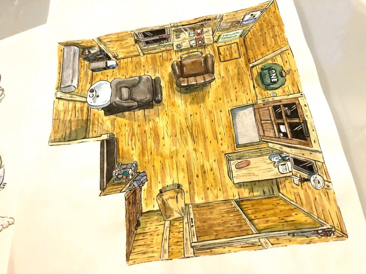 店舗イラスト!真上からの視点で描きます 絵ならではのアングルでチラシやホームページなどの宣伝用に イメージ1