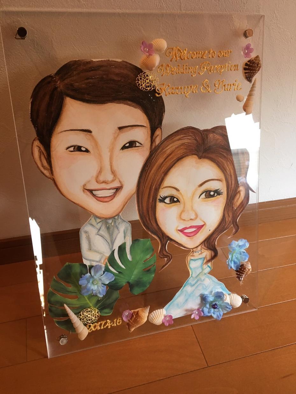お写真をもとに似顔絵をお描きいたします ウェルカムボードや誕生日、結婚式、還暦祝いのプレゼントに