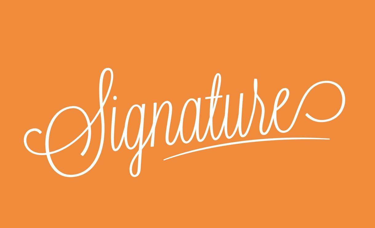 筆記体のシンプル&クールな英文ロゴお作りいたします これまで1000件以上のロゴを手がけたプロが制作します。