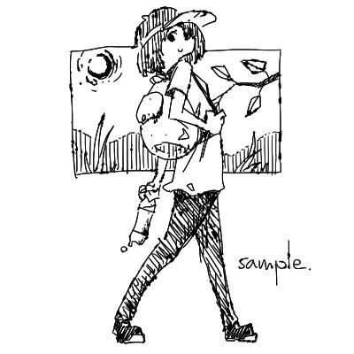 カットイラストを作成します あなたのテキストに、なんとも言えない味のある挿絵を