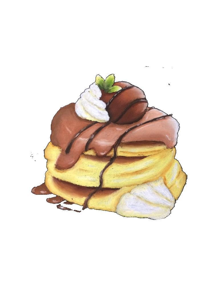 チラシや冊子の挿し絵を描きます 飲食店のチラシや冊子の挿し絵をチョークアートで描きます。