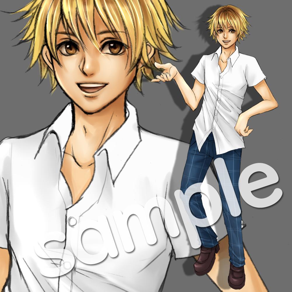 キャラクターの立ち絵を作成します 元ゲーム会社のデザイナーが、キャラクターの立ち絵を作成します