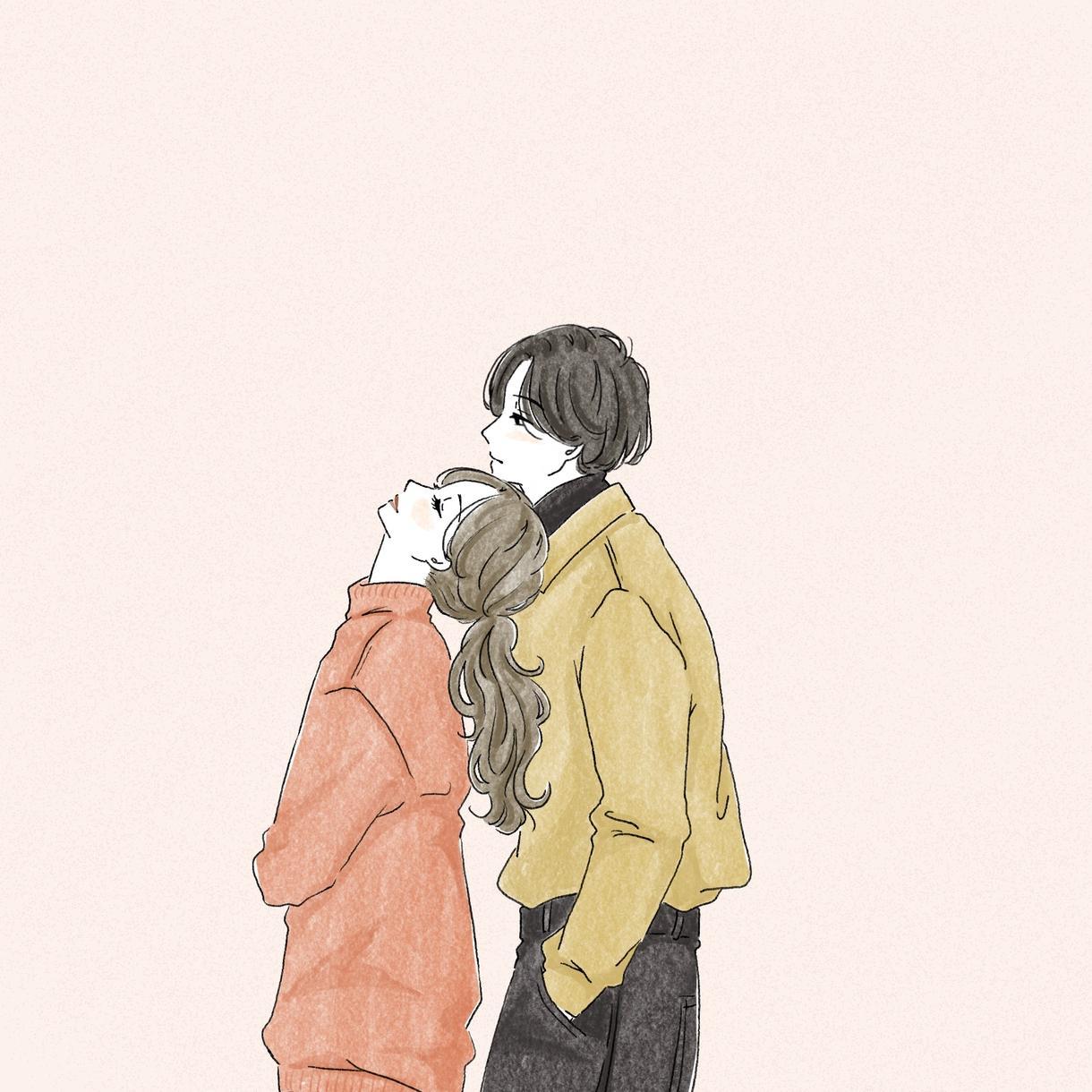 カップルイラスト描きます 日常風のものから、記念のシンプルなカップルの絵まで描きます。 イメージ1