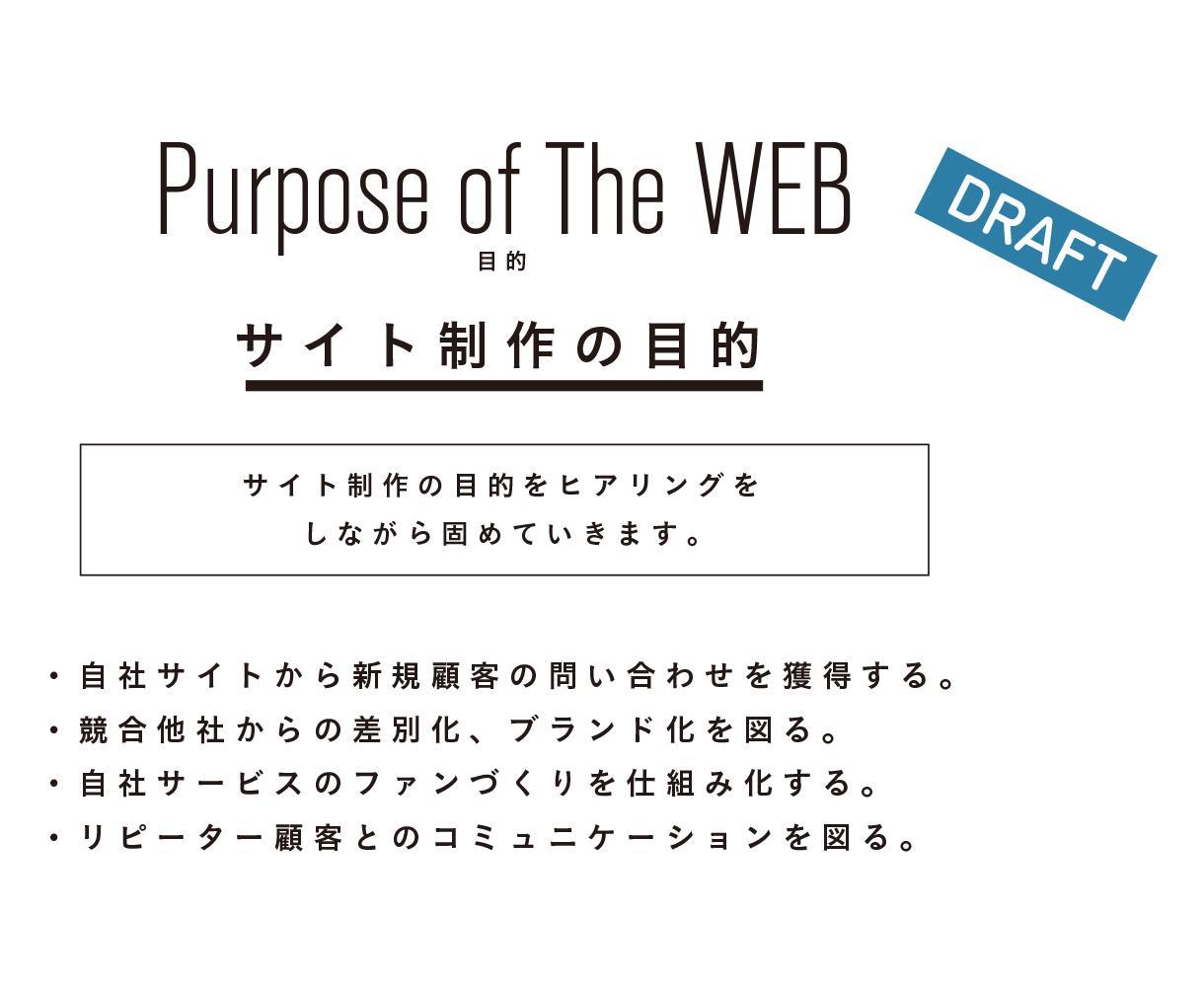 初心者が集客できるWebサイト仕様を一緒に考えます 要望をヒヤリングし、WEB仕様・構成を一緒にお作ります