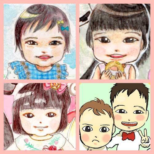 お子さん限定似顔絵描きます お誕生日や節目の記念などにいかがですか