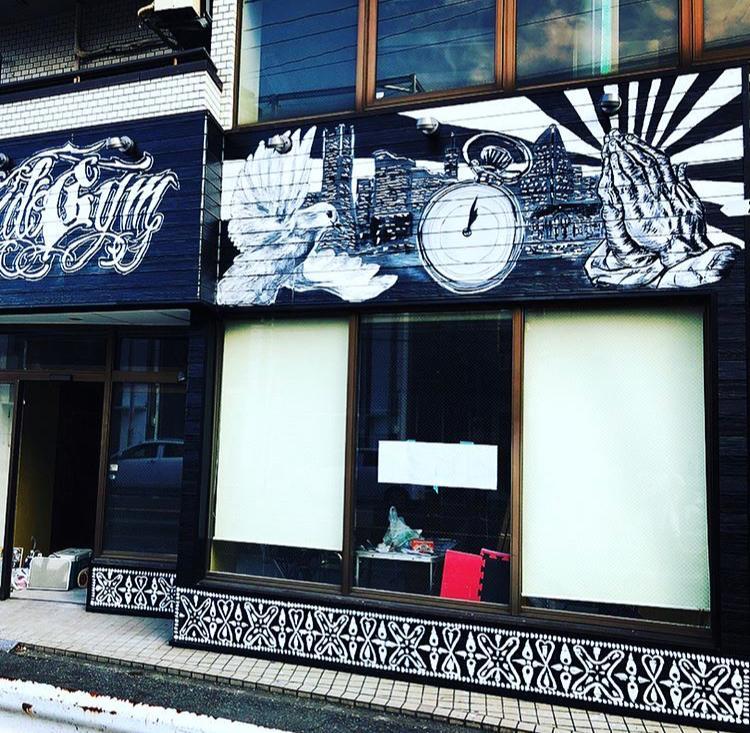 カッコイイ壁画描きます 新規店舗や改装時に★外壁、シャッター//描けます♪