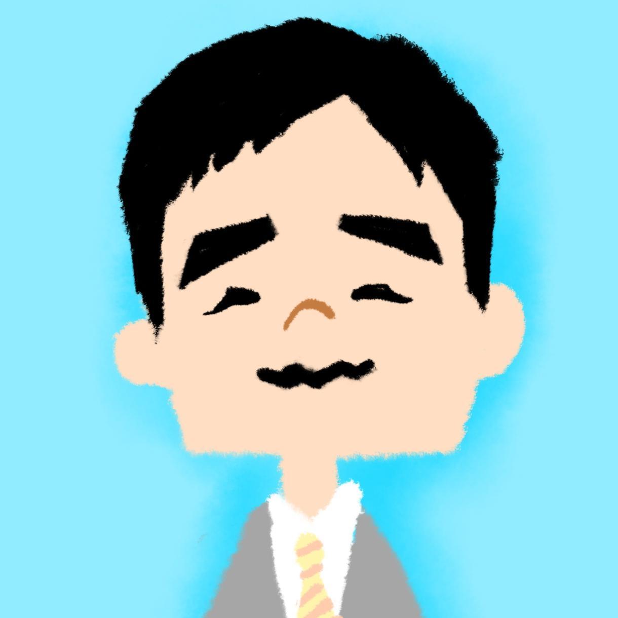 かわいくてシンプルな似顔絵アイコンを描きます