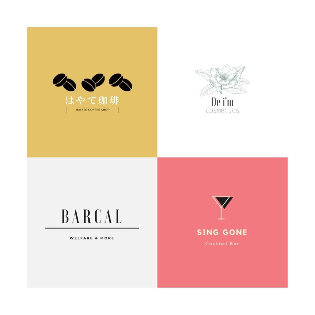 女子受け◎【シンプルでお洒落な】ロゴ作成します デザインは本業ではないのでお安い値段で作らせてもらいます!!