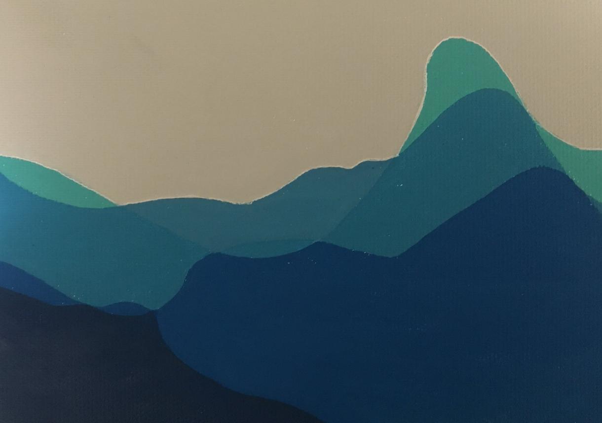 抽象画描きます 個性と好きな色に合わせて☆ワンランク上のプレゼント!
