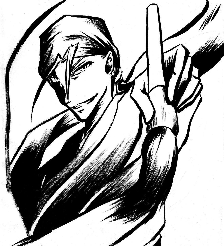 墨によるコミック風キャラクターイラスト描きます 作品の顔にアナログ手描きの和風イラストはいかがでしょうか?