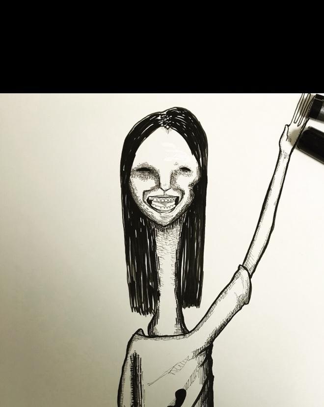 怖いイラスト描きます 不気味な雰囲気がお好きな方にピッタリ!