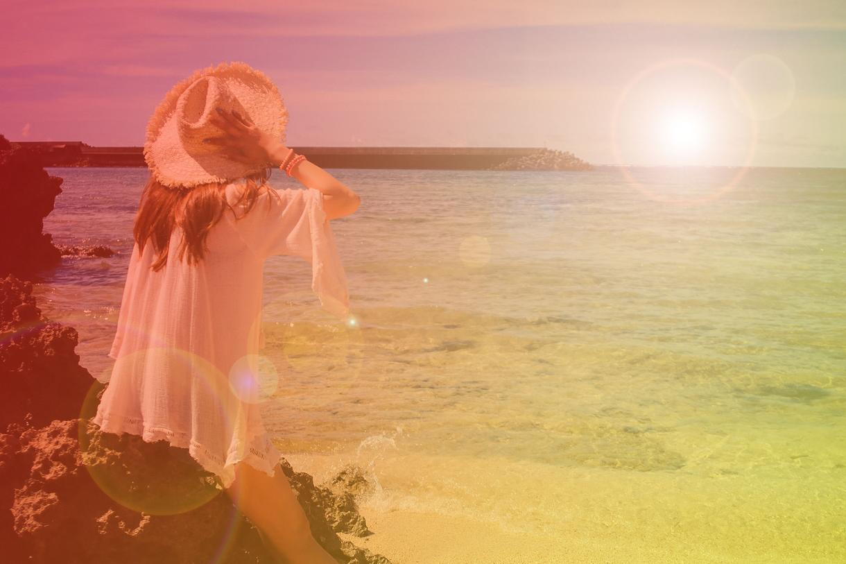 インスタ女子必見☆簡単なガーリー写真加工します グラデーションや太陽光を入れて、おしゃれ女子の写真に大変身♪