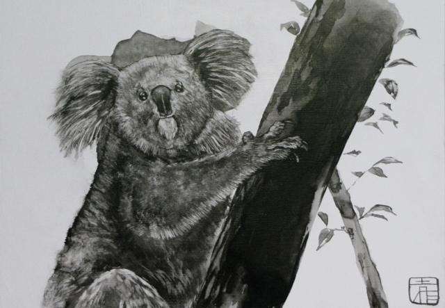 ペットや動物の墨絵のオーダー受けます 墨絵の独特の色味のリアルな世界に一枚だけの絵を描きます!