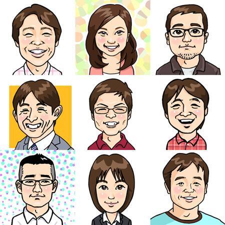 SNS用似顔絵アイコン作成します かる〜くデフォルメしたタッチの似顔絵です。