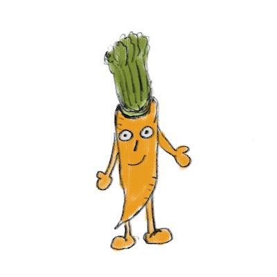 味のある手描き風の!お野菜達のアイコン作ります 他の人と違った雰囲気のアイコンを使いたい方!野菜好きな方!