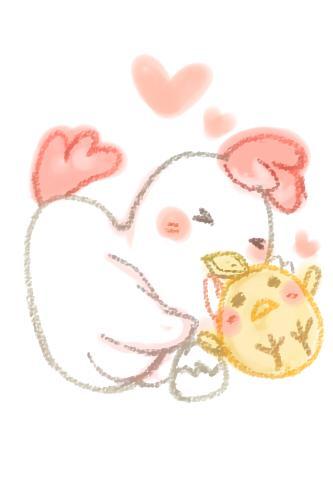 ペットやお好きな動物をゆるく可愛いイラストで描きます。